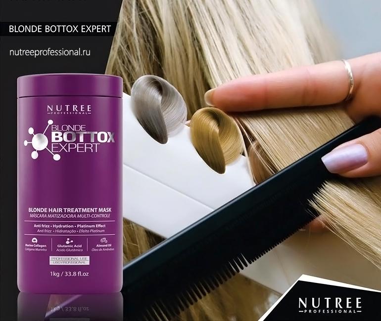Blonde Bottox Expert Результат процедуры До и После Ботокс для волос