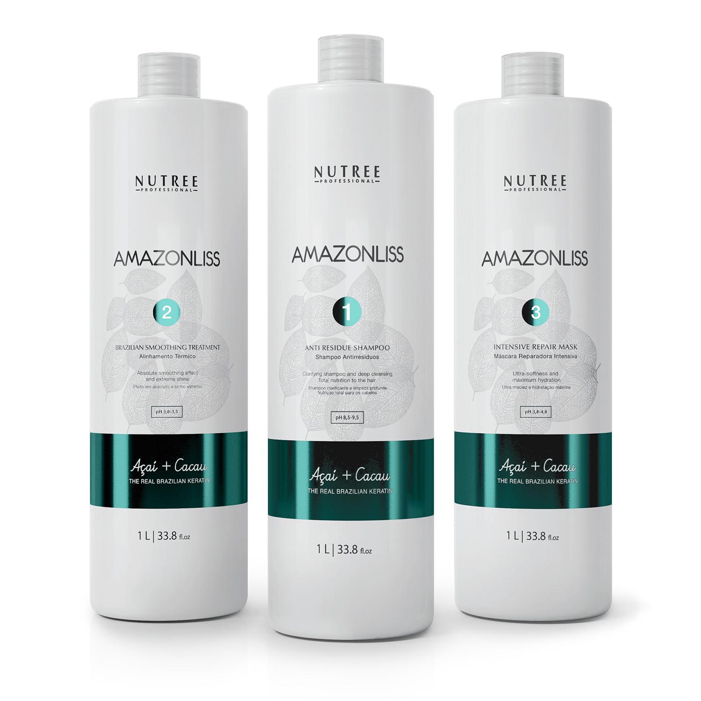 Nutree Amazonliss Комплект из 3-х средств - Professional Treatment KIT, 1000 мл (25 процедур).